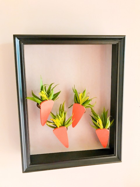 Easter Shadow Box Mobile: 5 Minute DIY Project with Air Plants