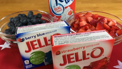 Patriotic Jello Cups