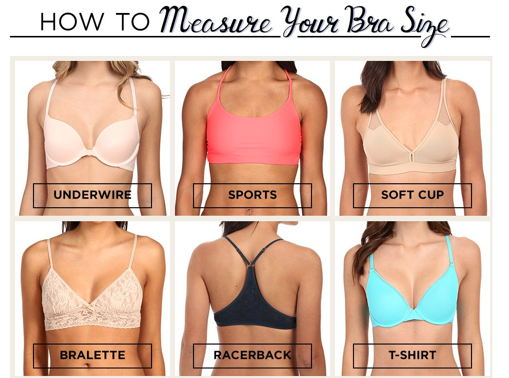 zappos how to measure your bra size