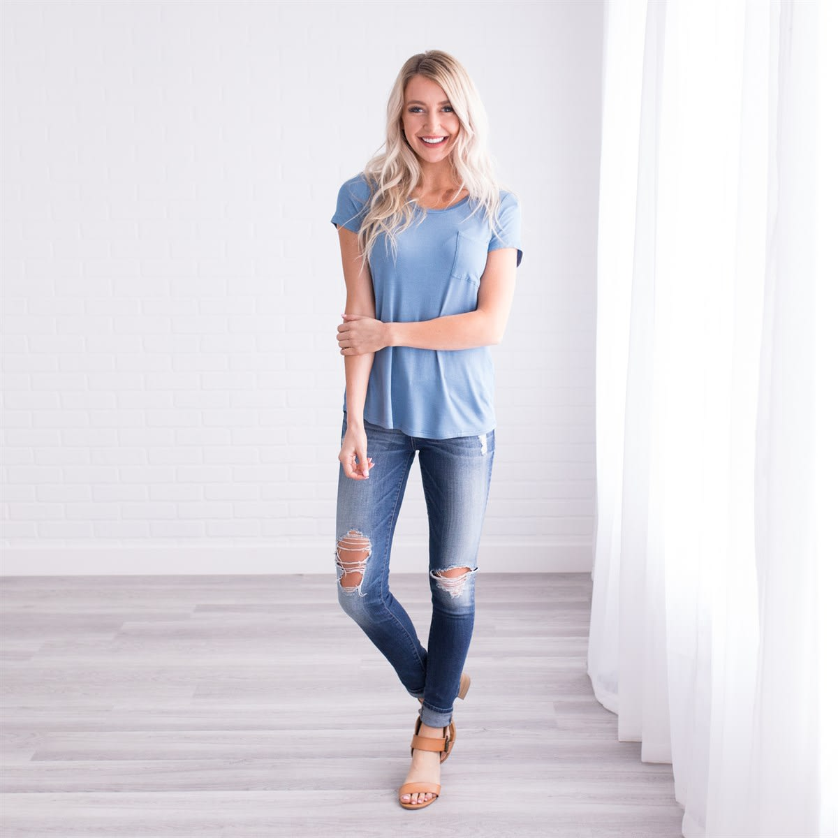 blule luxe pocket tee