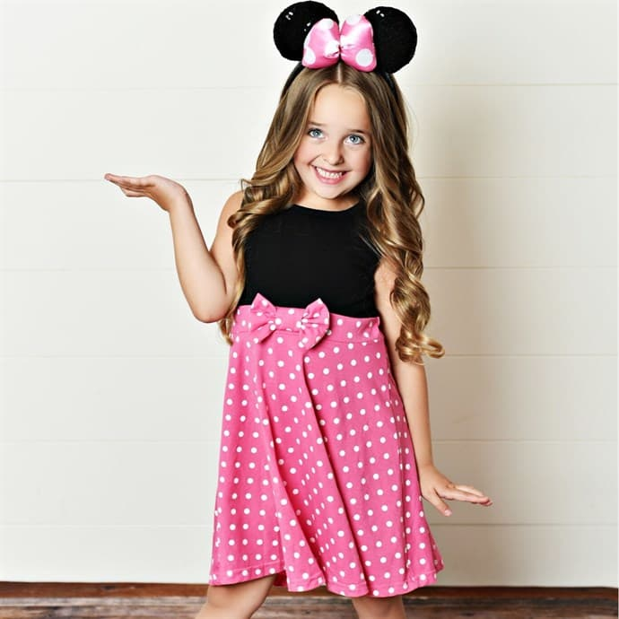 disney inspired minnie mouse dress