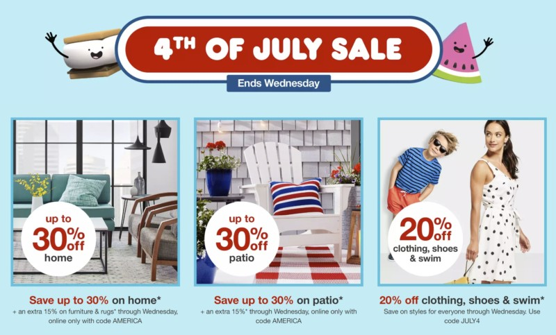 Target 4th of July Sale