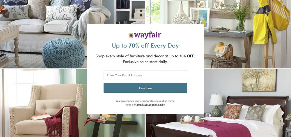 wayfair deal discount sale special
