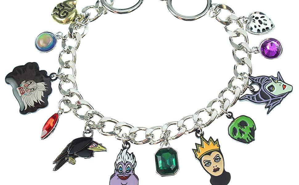 disney villains charm bracelet