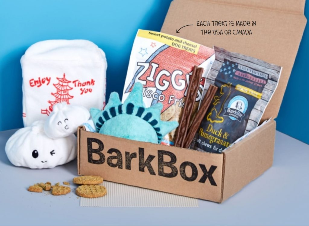 Bark Box free toy monthly subscription