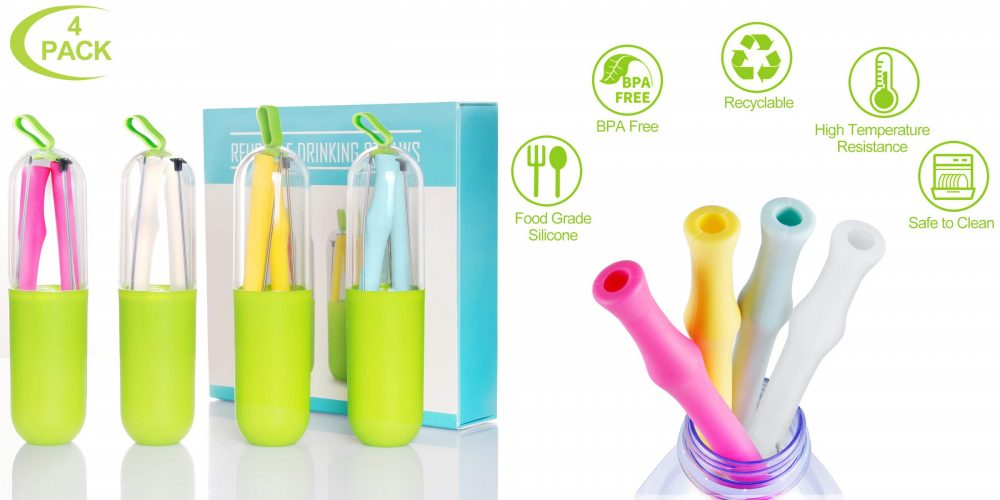 silicone reusable straw