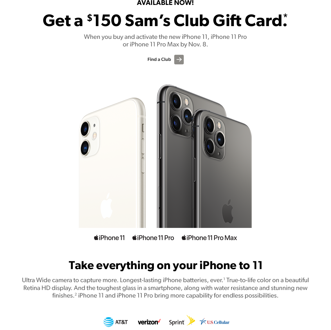 iphone 11 sam's club gift card