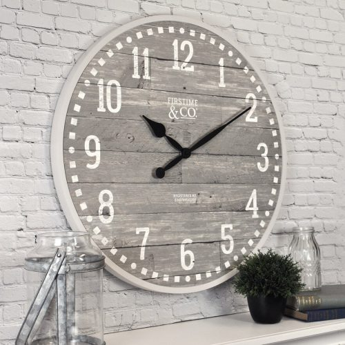 FirsTime Arlo Distressed Wall Clock