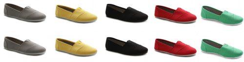 Ollio Women's Shoe Slip on Sneaker Canvas Flat FLIPPED
