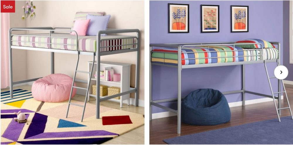Hop over to Wayfair and browse their Kids Bedroom Furniture Holiday Sale! This deal is good through October 25th, so hurry! Marked down by up to 73%, prices start at just $59.99! New customers can make this deal even better by snagging an extra 10% off your order. This can bring items down as low as $53.99. And, you'll get free shipping! How to get this deal: 1. New customers: Go here to grab your 10% off. You'll need to enter your email address and click submit to get this coupon code. It will go to your email. 2. Go here to view and browse the Kids Bedroom Furniture Holiday Sale and make your selection. 3. Use the promo code sent to your email address to bring the price down by 10% 4. Final pricing can be as los as $53.99, shipped! (Based on your selection.) A Few Deals that We Found: AlmedaCheatham Full Over Full Bunk Bed New customers take 10% off Sale Price with your personal promo code. Regular Price: $869.99 Sale Price: $384.99 Go here to view deal. Big Oshi Platform Toddler Bed New customers take 10% off Sale Price with your personal promo code. Regular Price: $70.99 Sale Price: $53.99 Go here to view deal. Sienna Rose Twin over Full Bunk Bed New customers take 10% off Sale Price with your personal promo code. Regular Price: $629.00 Sale Price: $293.99 Go here to view deal. There are so many great deals on kid's bedroom furniture. Go here to view them all!