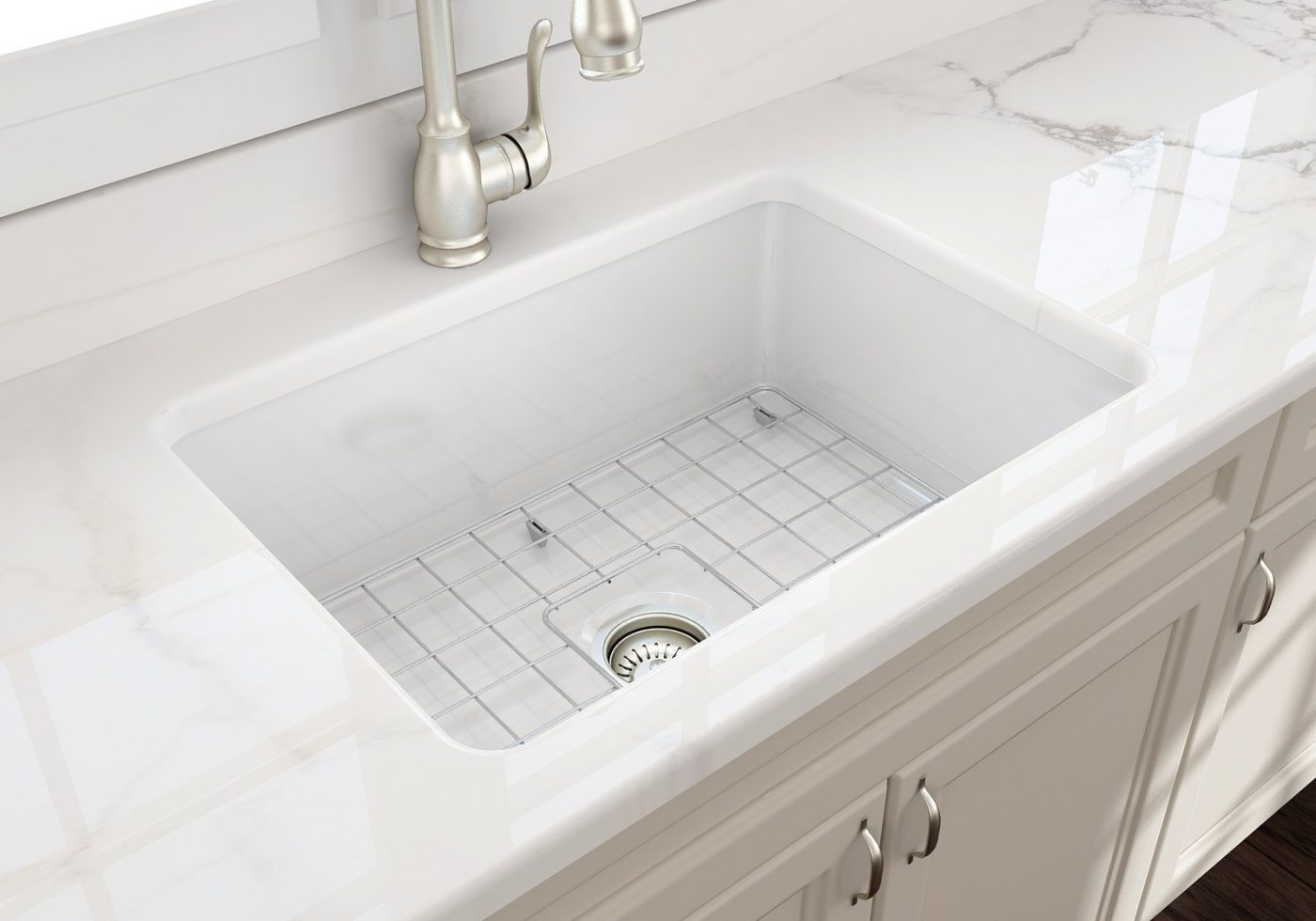 "SOTTO 27 Undermount Fireclay 27"" Single Bowl Kitchen Sink"