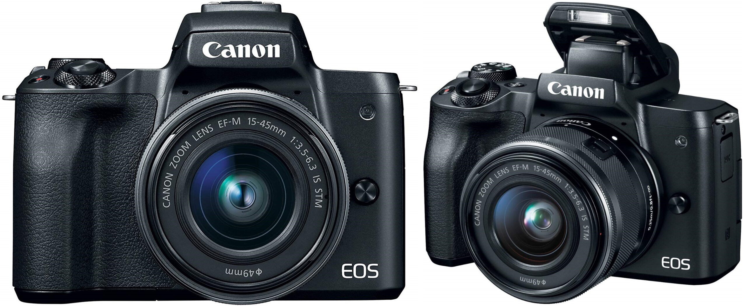 Canon EOS M50 Mirrorless Camera Kit w/EF-M15-45mm and 4K Video - Black