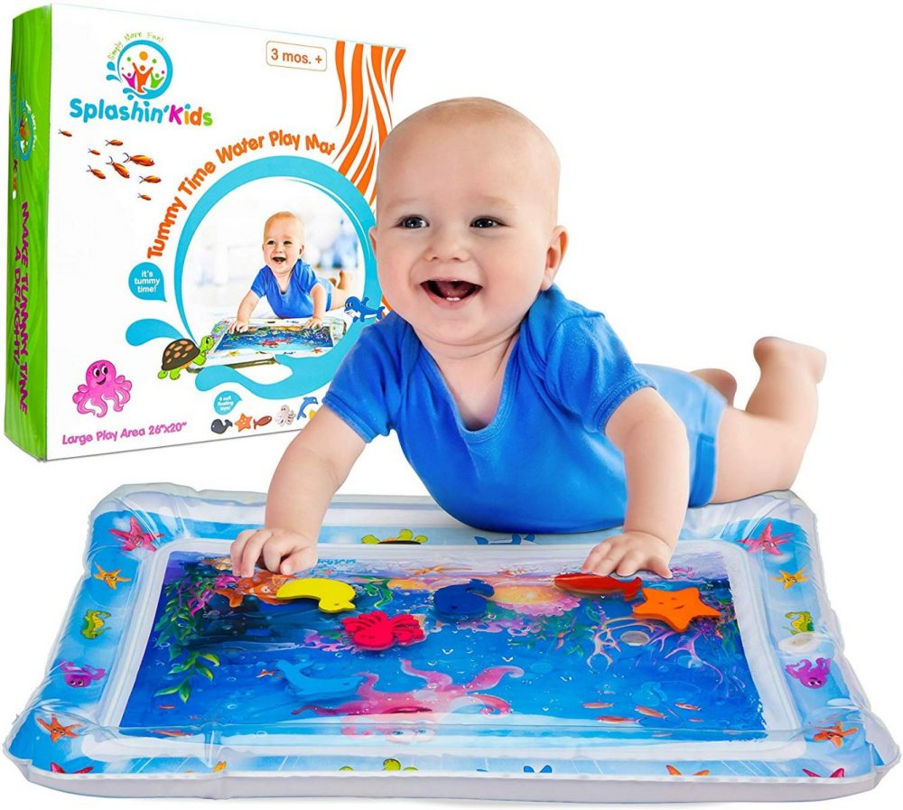 Splashin'kids Inflatable Tummy Time Premium Water mat Infants