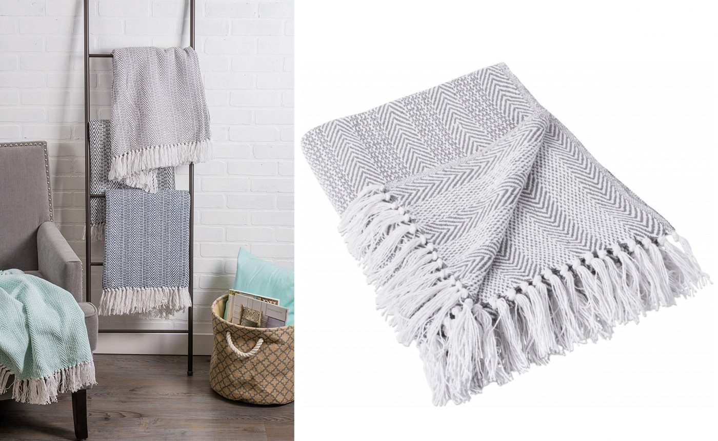 farmhouse decor blanket