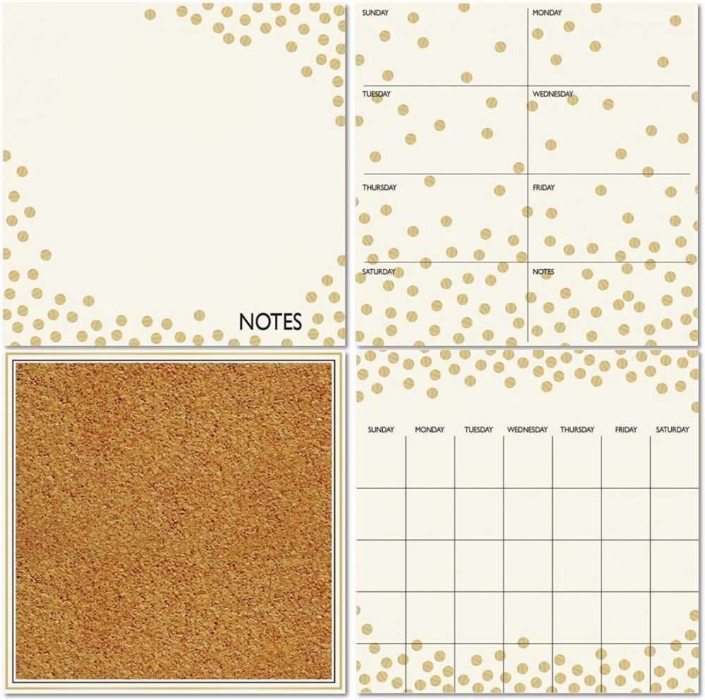 Wall Pops WPE1503 Gold Confetti Organization Kit