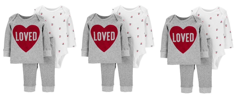 Baby Carter's 3-Piece Valentine's Day Set