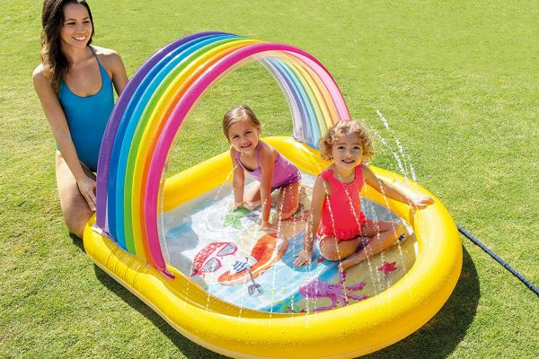 Intex Rainbow Arch Spray Pool Inflatable Kids Pool