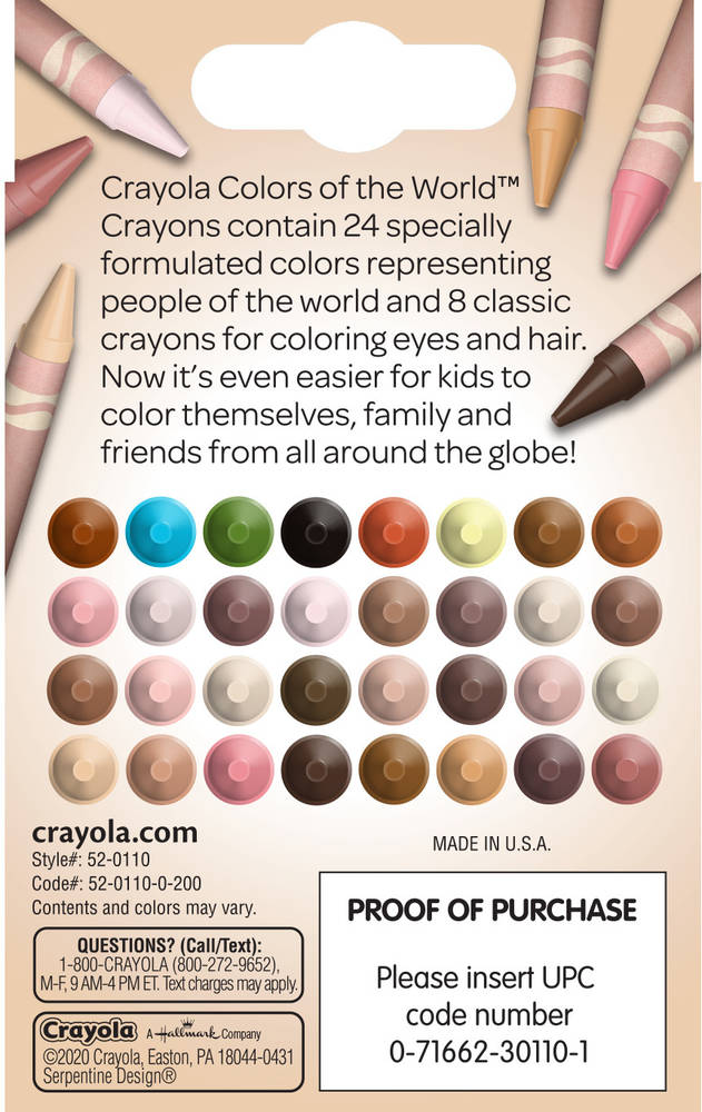 crayola colors of the world crayons set box