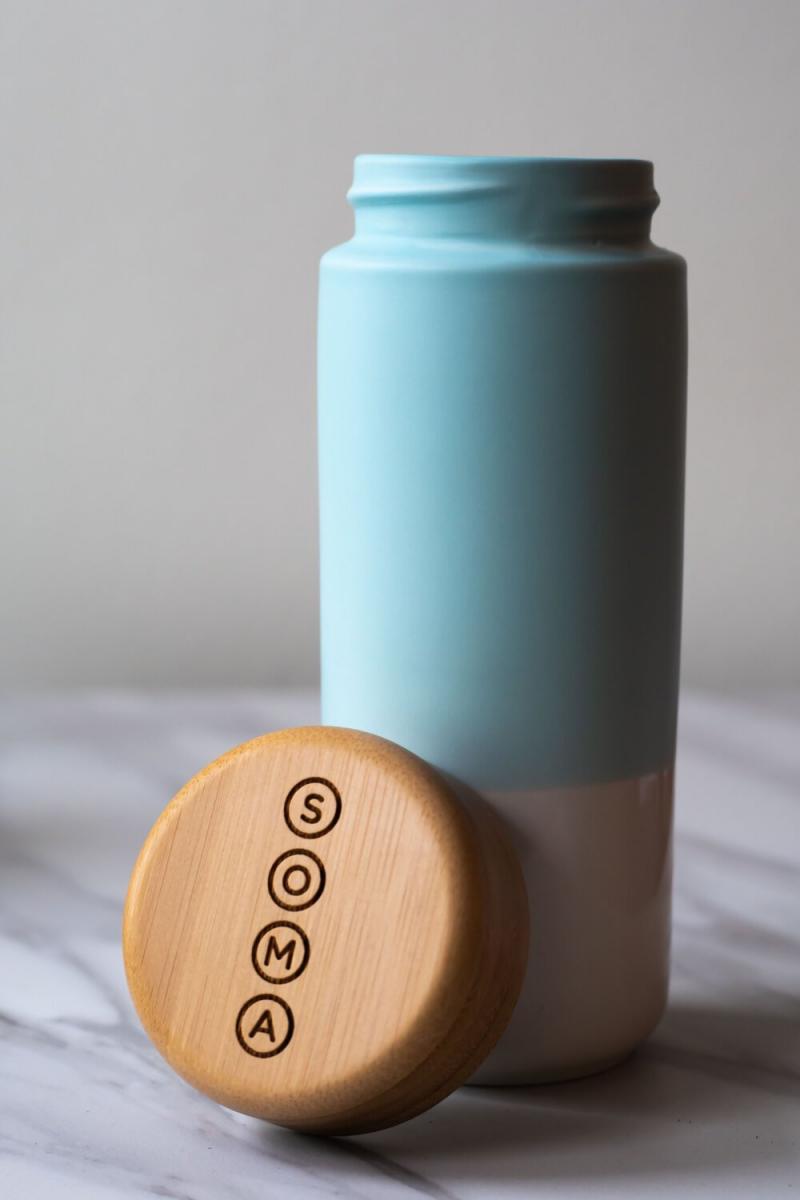 SOMA Ceramic Bottle to go coffee mug water bottle
