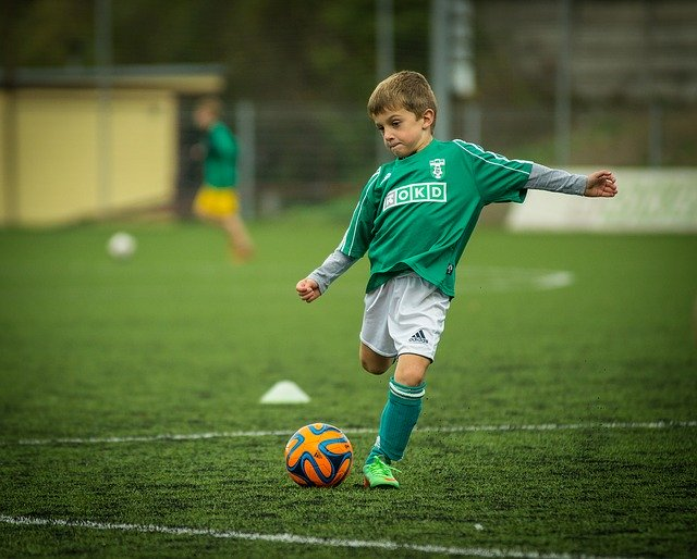 child playing soccer Christmas gift
